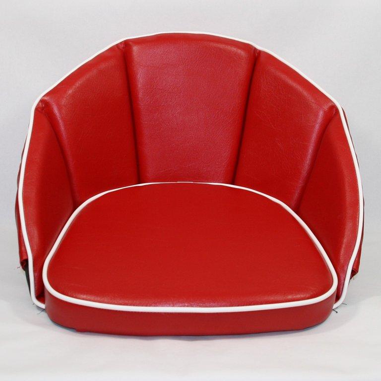 sitzkissen rot keder wei 500013 oldtimer kuepper. Black Bedroom Furniture Sets. Home Design Ideas