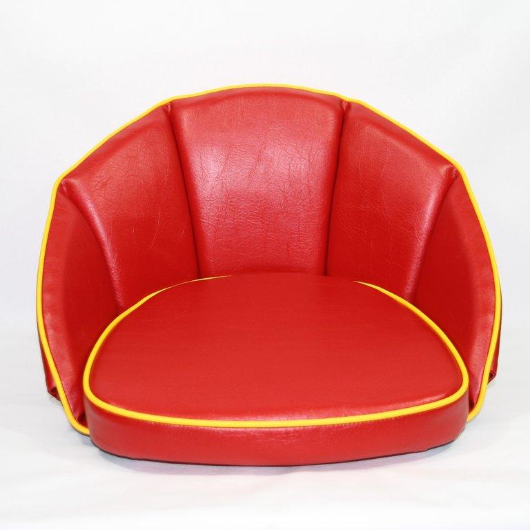 sitzkissen rot keder gelb 500023 oldtimer kuepper. Black Bedroom Furniture Sets. Home Design Ideas