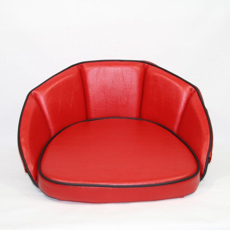 sitzkissen rot keder schwarz 500032 oldtimer kuepper. Black Bedroom Furniture Sets. Home Design Ideas